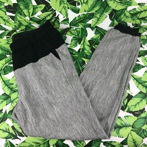 Tibi Herringbone Gray Black Jogger Pants